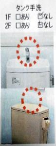 タンクの手洗い